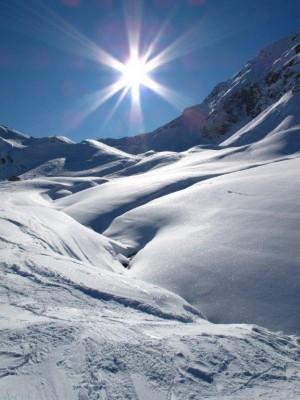 Holly Koffler - Off piste skiing La Plagne France